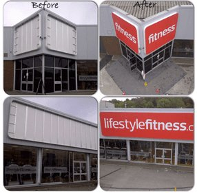 lifestyle fitness signboard