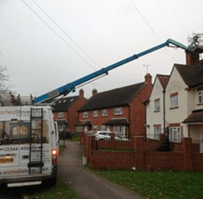 cherry picker in action