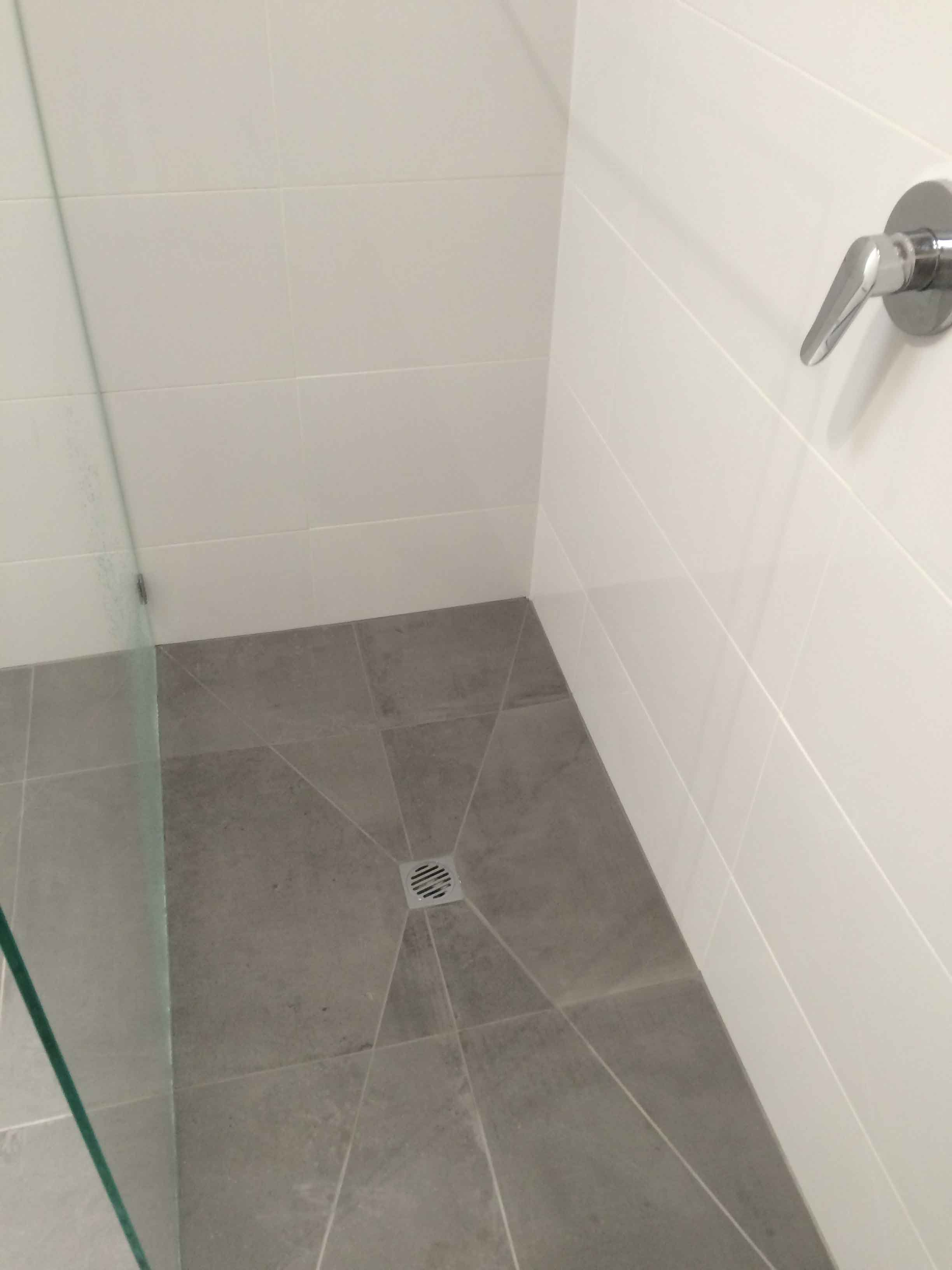 View of a bathroom tiling work done by expert