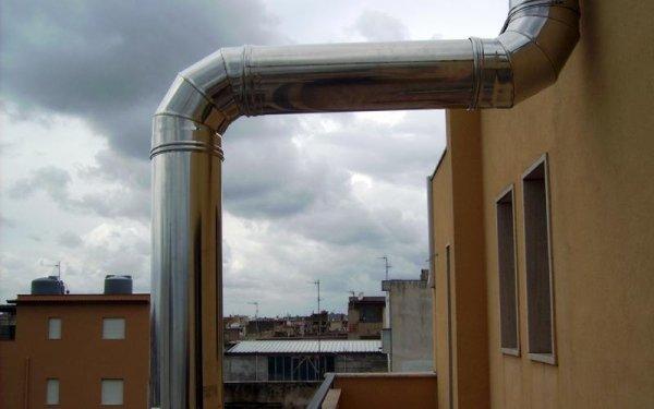 Rosticceria: tubo areazione