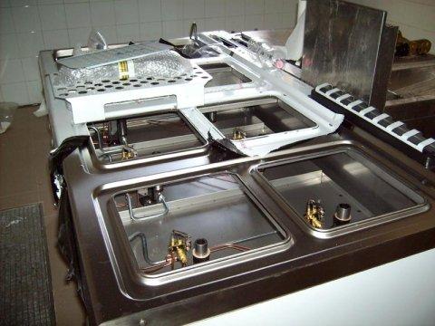 Realizzazione della cucina di un ristorante