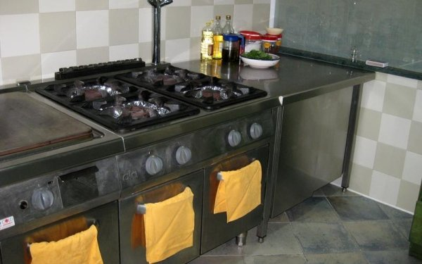 Cucine con piano cottura professionale
