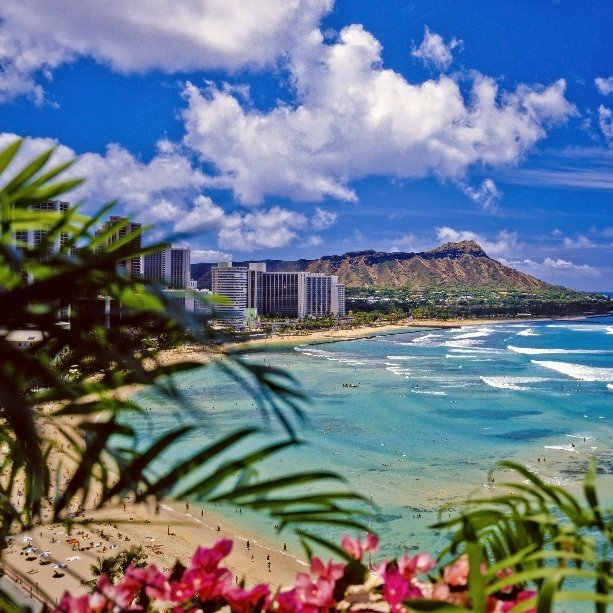 A scenic view of Honolulu