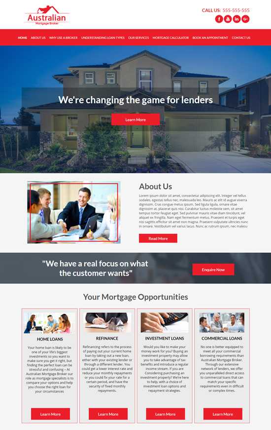 Mortgage Broker websites