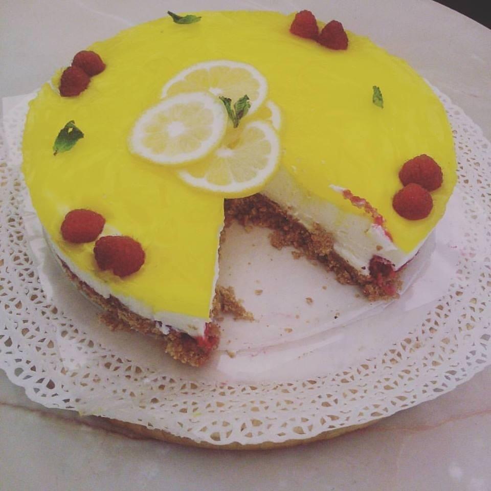 Cheesecake limone e lamponi