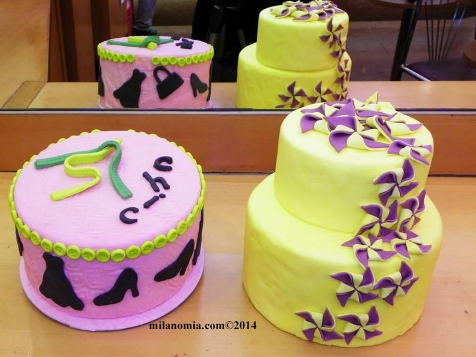Torte con decorazione in pasta di zucchero