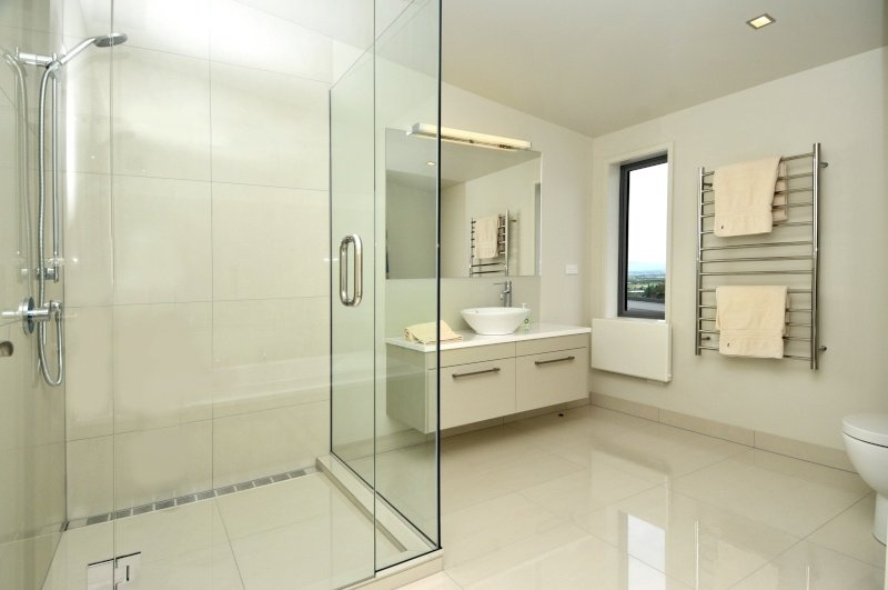 Interior view of the newly renovated bathroom