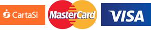 Si accettano Cartasì, MasterCard, Visa