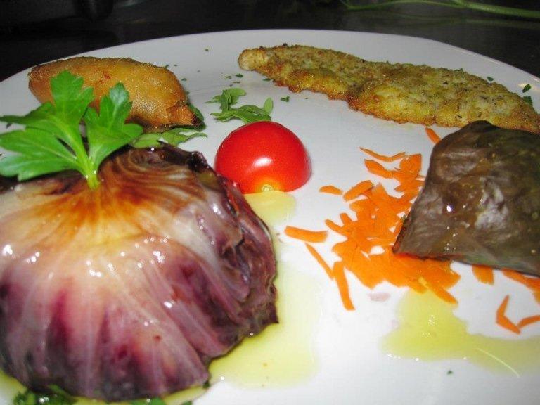 Piatto a base di pesce a La Vela- Messina