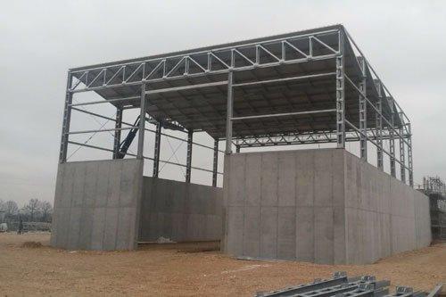 Un edificio in fase di costruzione