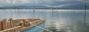 Vista sul Lago Santa Croce