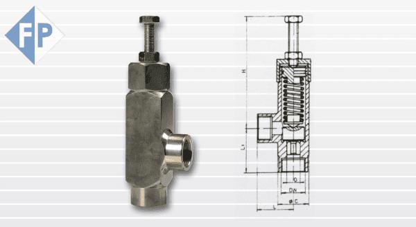 valvole limitatrici di pressione - 080 inox