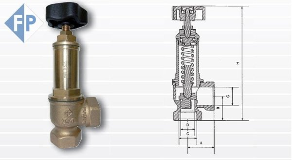 válvula de seguridad 078 - PN 16 | Artículos de grifería Paracchini