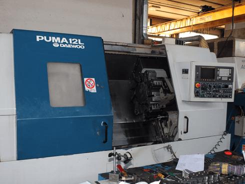 Daewoo Puma 12-L CNC, altezza punte 250x1000.