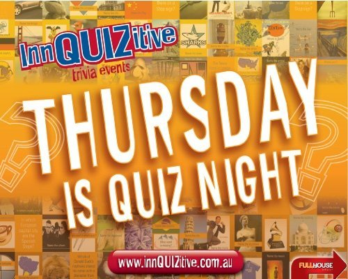 Thursday is Trivia night