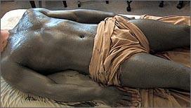 salt scrub and mud wrap body treatment for men