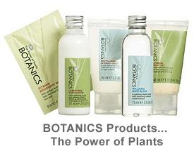 Botanics Organic product line for spa facial