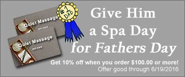 massage, manscaping, spa gift cards for fathers day