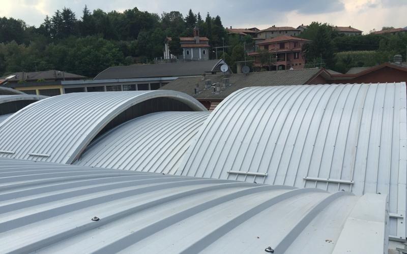 Copertura latta tetto azienda 2 - Lecco