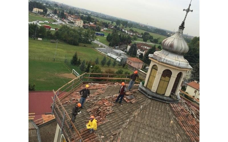 Ristrutturazione tetto Chiesa - Lecco