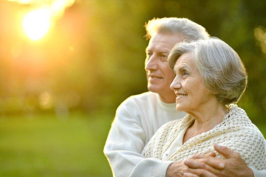 an elderly man and woman