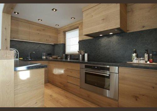 una cucina in legno