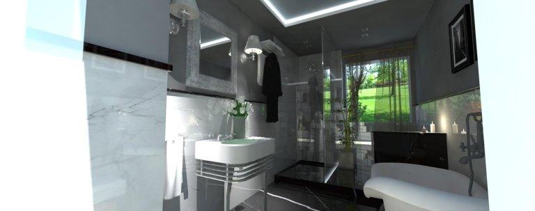 un bagno con una vasca e un lavandino di color bianco