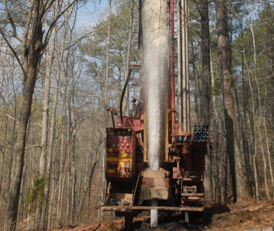 Well drill for irrigation water pumps in Lineville, AL