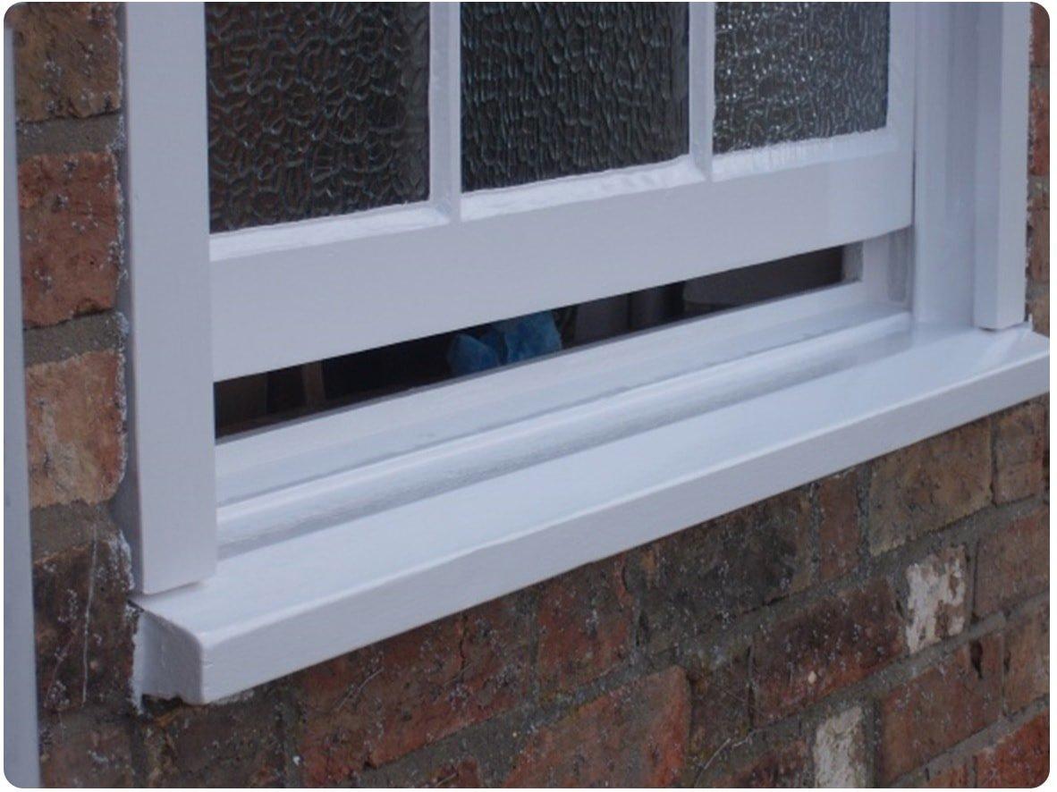 repaired timber window