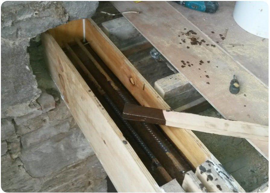 Timber beam repairs using resin