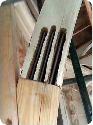 Timber crack repairs using resin