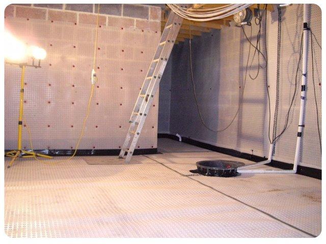 waterproofed basement