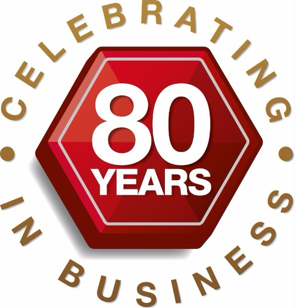 80 years in buiness logo