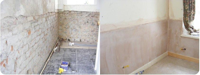 rising damp repairs in progress