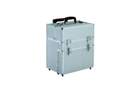 Una valigia in metallo pensata per contenere il make up.