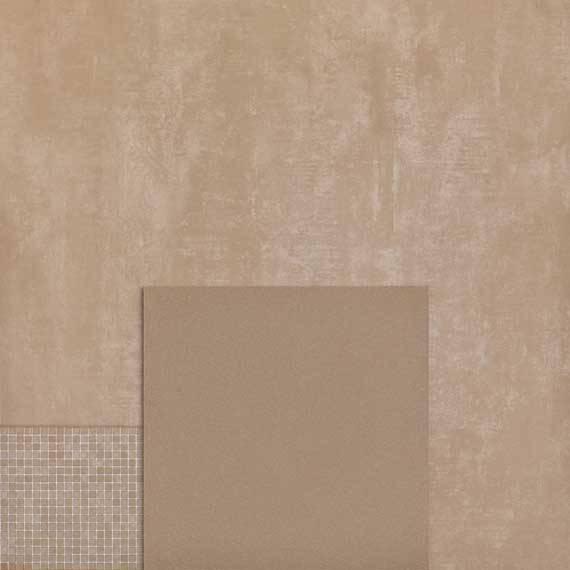 un muro e delle piastrelle color sabbia