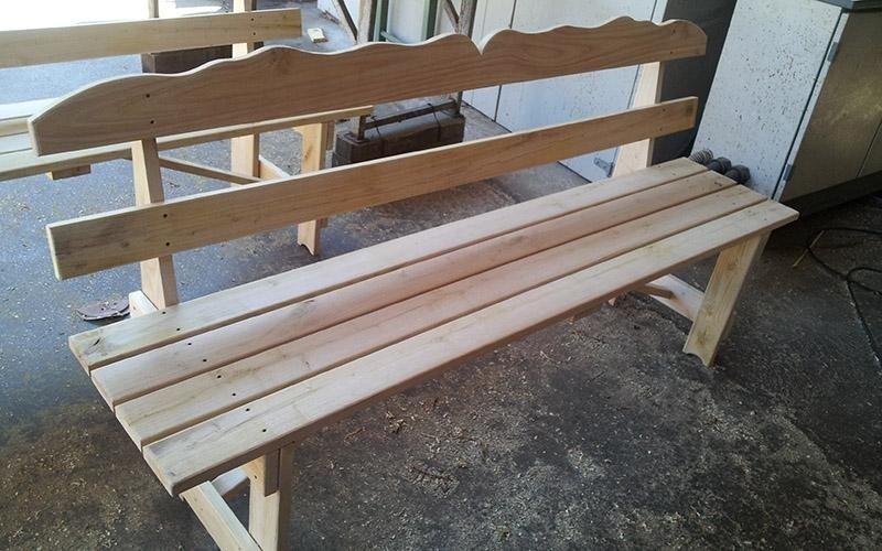 Panchina in legno