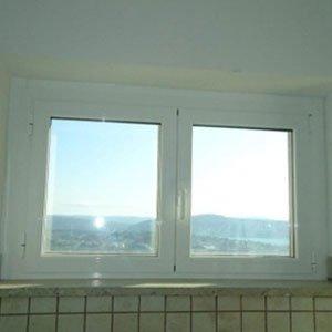 Finestra di doppio foglio di PVC bianco