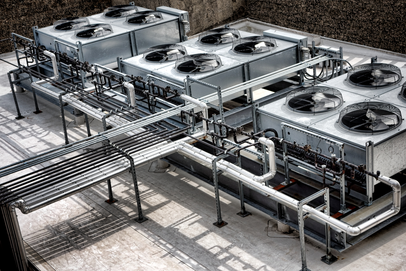 A complex commercial HVAC system