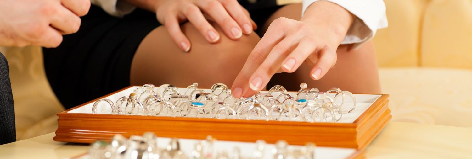Picking rings at jewellery shop in Auckland