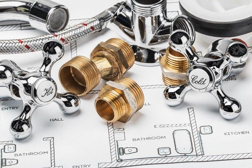 Bathroom plumbing image