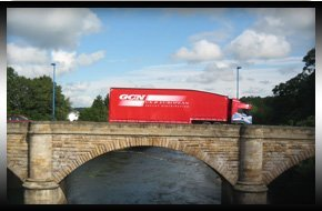 red lorry on motorway