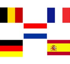 Flags of European countries covered