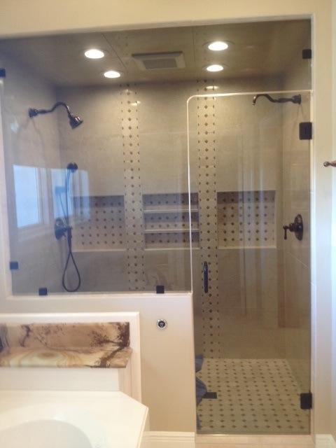 Finished shower door installation in Orange Beach, AL