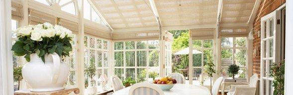 Bright white conservatory