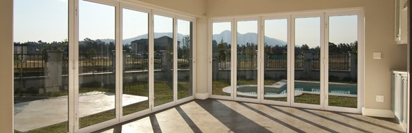 Complete room of bi-fold doors