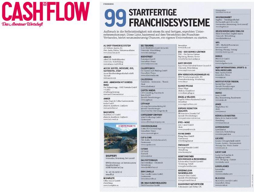 99 startfertige Franchisesysteme - Artikel im Cashflow
