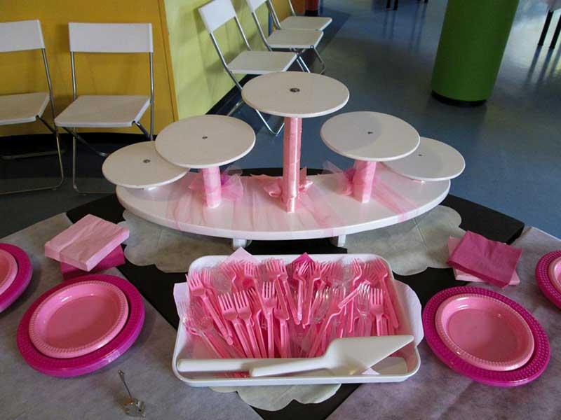 posate rosa per bambini