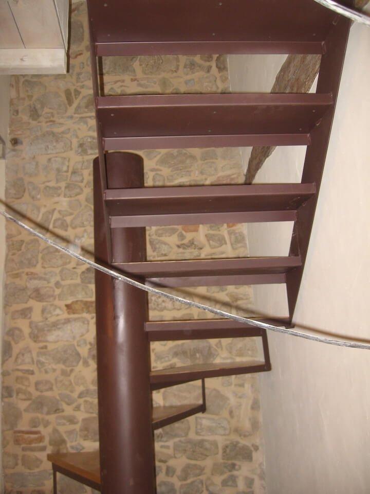 una scala a chiocciola