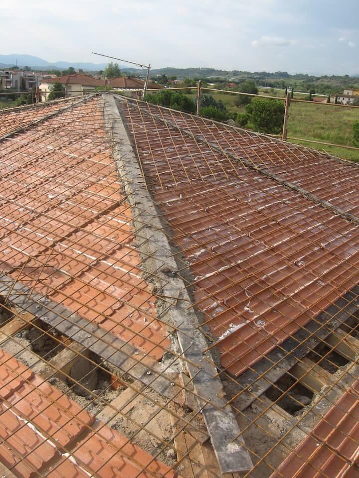 vista del tetto dall'esterno